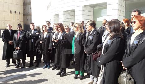 La concentració d'advocats a Lleida.