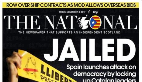La premsa internacional es va fer ressò de l'empresonament dels vuit consellers a Catalunya.