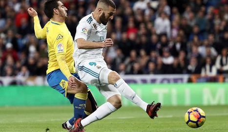 Benzema va sortir de titular però va confirmar que està negat davant del gol.