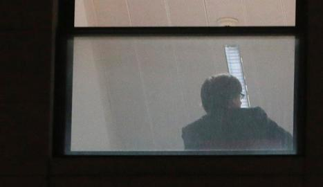 Puigdemont, ahir, a la seu de la Fiscalia belga.