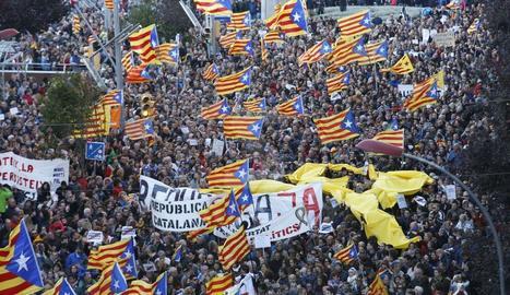 Manifestación 5 de noviembre en rechazo a los 'presos políticos'
