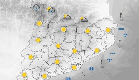 Alerta per fort vent al Pirineu
