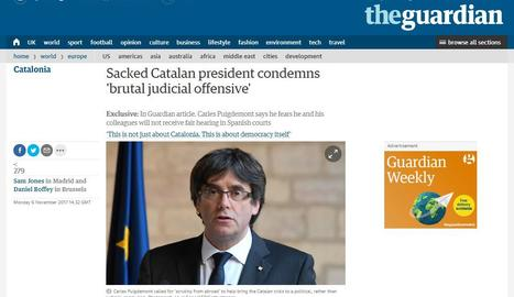 Puigdemont denuncia a 'The Guardian' la
