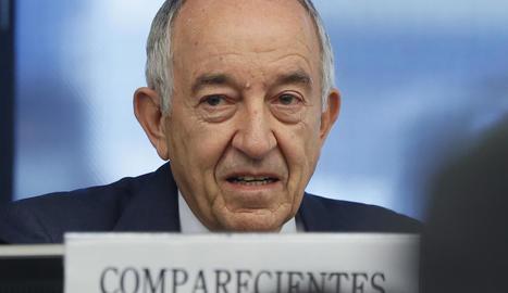 Moment de la compareixença de Miguel Ángel Fernández.