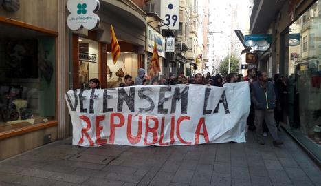 Piquets a l'Eix Comercial de Lleida