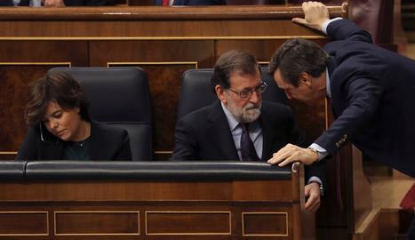 Mariano Rajoy y el portaveu del PP