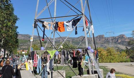 Protesta de la plataforma l'octubre passat a la Pobla de Segur.
