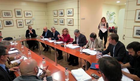 La reunió d'ahir del consell d'administració de l'EMU.