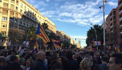 Convocada per les entitats sobiranistes per demanar la posada en llibertat dels exconsellers i els 'Jordis'