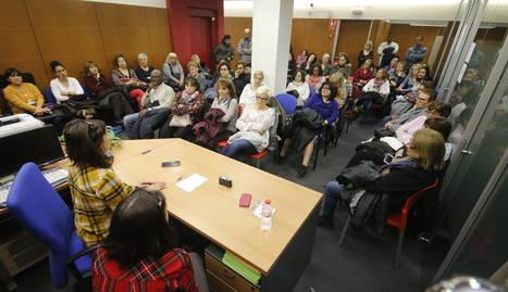 Un moment de l'assemblea informativa de CCOO ahir a Lleida sobre la neteja.