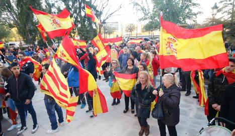 Manifestació a favor de la unitat d'Espanya