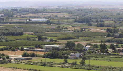 Imatge d'arxiu d'una vista de l'Horta de Lleida.