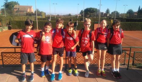 Els jugadors del Sícoris Club a la Lliga McDonald's de tenis.