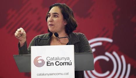 L'alcaldessa de Barcelona, Ada Colau, dissabte passat.