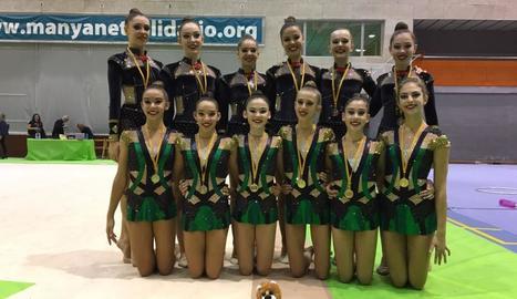 Medalles en rítmica per al Sícoris al Trofeu Pare Manyanet