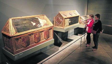 Els tres sepulcres, unes de les peces originàries de Sixena que reclama Aragó.