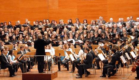 La Banda Municipal de Lleida dirigida per Amadeu Urrea.