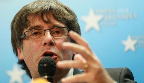El president de la Generalitat, Carles Puigdemont, que no podrà votar des de Brussel·les.