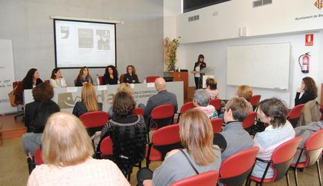 Un moment de la jornada informativa sobre dones rurals.