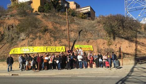 Alguns dels manifestants ahir a Tremp.