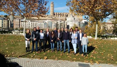 Els candidats de Ciutadans per Lleida.