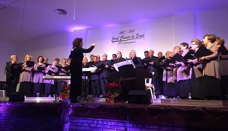 La Coral Clamor de Soses, durant el concert de diumenge passat.