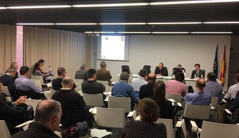 Imatge de la jornada de debat i treball celebrada ahir al ministeri d'Agricultura.