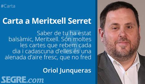 Carta d'Oriol Junqueras a Meritxell Serret (tu i jo agafant l'horitzó)