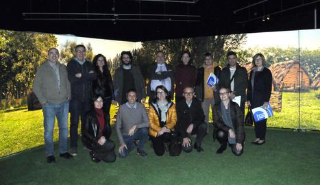 Els participants en el ple de la Xarxa de Museus d'Aqueologia, dilluns passat.