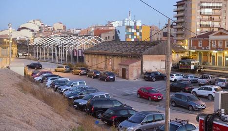 La zona on es construirà la nova estació d'autobusos.