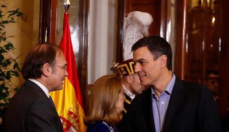 Mariano Rajoy, ahir, a l'arribar al Congrés dels Diputats.