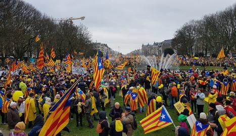 Milers de lleidatans han viatjat fins a la capital de Bélgica.
