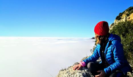 Foto d'un mar de boira al Mont-roig (Camarasa).