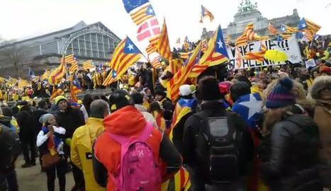 VÍDEOS. La manifestació a Brussel·les, amb milers de lleidatans