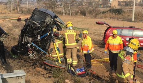Greu accident de trànsit a la carretera L-303 a Ossó de Sió