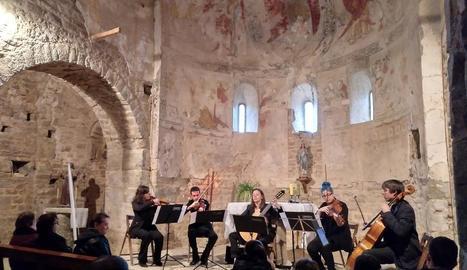 Concert a l'església de Santa Maria de Palau de Rialb.
