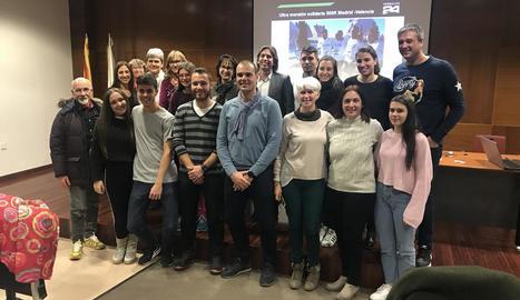 Els participants en la conferència sobre nutrició.