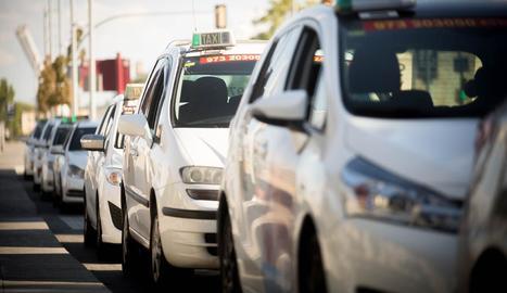 Taxis a la ciutat de Lleida.