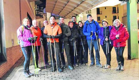Marxa nòrdica dilluns a la Seu per a La Marató de l'Associació Nòrdic Walking Nòrdic Esports.
