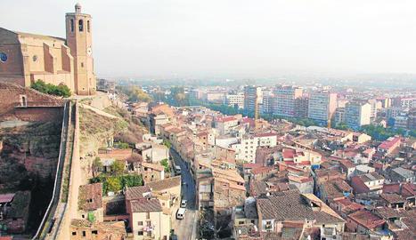 Vista del centre històric de Balaguer.