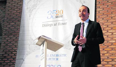 Enrique de las Morenas, durant la conferència al cicle 'Diàlegs al Roser' al Parador dijous passat.