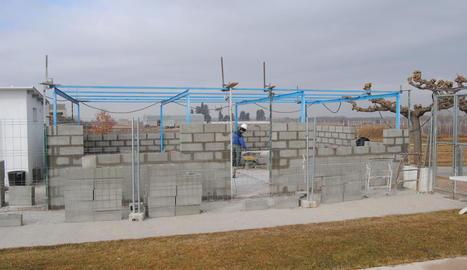 Les obres de construcció de la nova sala.