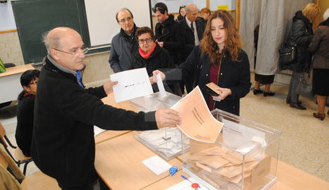 Un col·legi electoral en les passades eleccions al Parlament, el 27 de setembre del 2015.