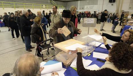 Imatge d'arxiu d'un col·legi electoral a Lleida.