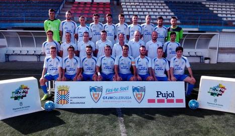Plantilla del Mollerussa per a l'actual temporada 2017-18, que ha firmat una primera part de la Lliga perfecta.