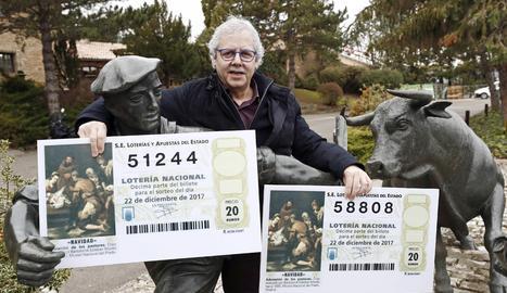 El propietari de La Bruixa d'Or de Sort, Xavier Gabriel, ha seguit el sorteig des de Navarra.
