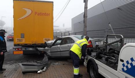Tallada la A2 a Vila-sana per un accident amb 7 vehicles implicats
