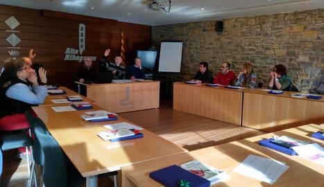 Imatge del ple del consell de l'Alta Ribagorça aquesta setmana.