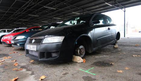 Imatge del vehicle ahir al matí.