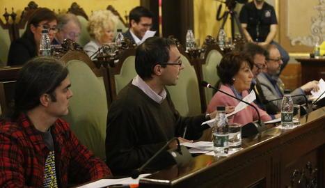 Els regidors del Comú de Lleida, a l'últim ple municipal.